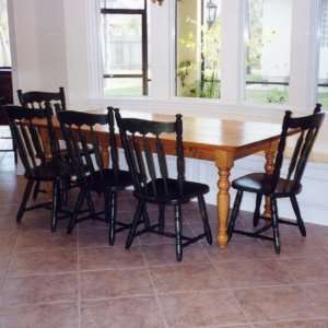 8 Seat Pine Dining Table with Turned Legs