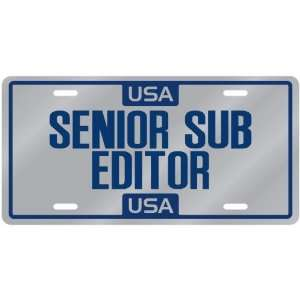 New  Usa Senior Sub Editor  License Plate Occupations