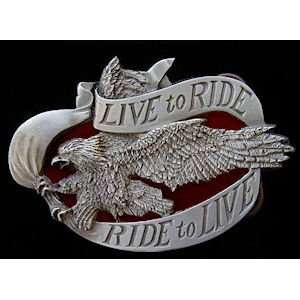 Ride to Live / Ride to Live Eagle Biker Belt Buckle Automotive