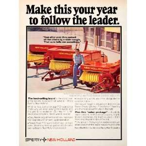 1978 Ad Sperry New Holland Agriculture Farming Farmer 310