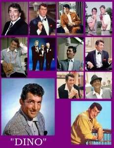 DEAN MARTIN (DINO) PHOTO FRIDGE MAGNETS Set of 12
