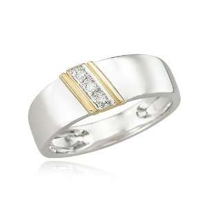14K TWO TONE GOLD Womens Diamond Wedding Ring Diamond quality A (I1