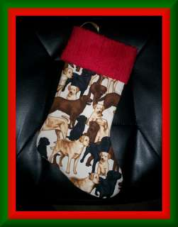 Handmade Christmas Stocking ~ Labrador Retrievers BCMM