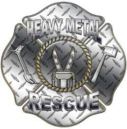Heavy Metal Rescue Diamond P Maltese Cross Decal FF17