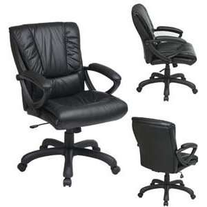 Chair with Thick Padded Glove Soft Leather Seat and Back and Padd