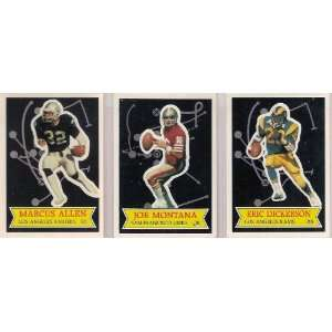Card Football Lot (Joe Montana) (Marcus Allen) (Eric Dickerson