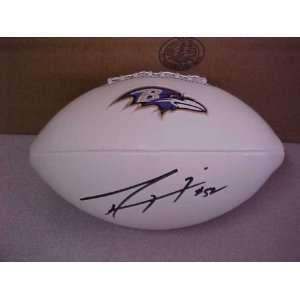 Lewis Hand Signed Autographed Baltimore Ravens Full Size NFL Football