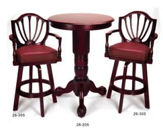 PUB TABLE & CHAIR /BAR STOOL SET~POOL ROOM~MAHOGANY~NEW