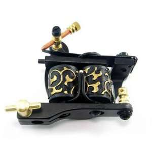 Cast Iron Dual coiled 10 Wrap Coil Tattoo Machine Shader