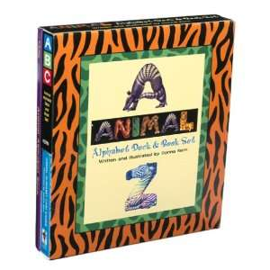 Animal Alphabet Card Deck and Book Set Toys & Games