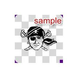 PEOPLE HAPPY PIRATE 10 WHITE VINYL DECAL STICKER