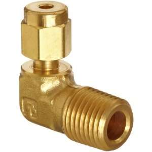 Parker A Lok 6MSEL4N B Brass Compression Tube Fitting, 90 Degree Elbow