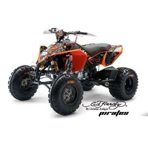 AMR Racing KTM 450, 525 and 505 ATV Quad, Graphic Kit   Pirates White