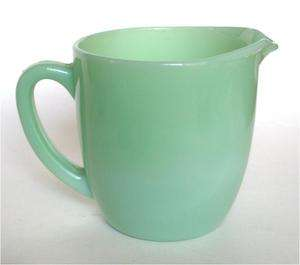 Fire King Jadeite Jadite Glass Breakfast Milk Pitcher or Jug Part of