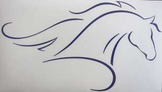 Sm Purple Unique Elegant Horse Outline Decal Sticker