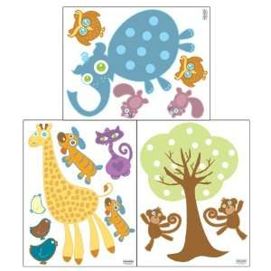 Animal Wall Decals  Peel & Stick Removable Sticker Appliques Baby