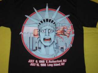 Vtg IRON MAIDEN NEW YORK 1988 CONCERT T SHIRT tour OG