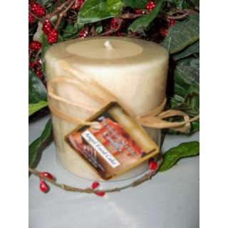 Angel Food Cake Scented Round Pillar Candle 13 Oz.