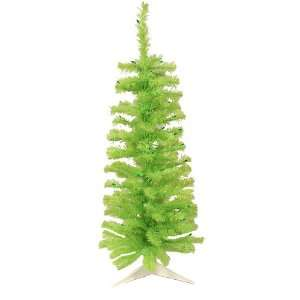 Green Artificial Pencil Christmas Tree   Green Lights