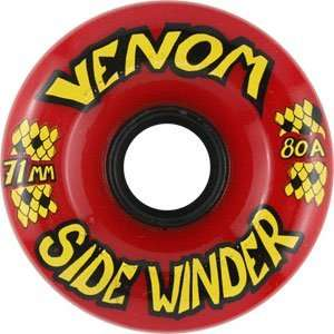 Venom Sidewinders 70mm 80a Red Skateboard Wheels (Set Of 4)