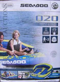 Sea Doo 020 SEADOO Towable 2 Person Water Boat Ski Wake Tube New