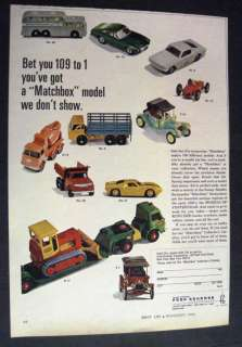 Vintage image of Matchbox Model Cars by Fred Bronner Corp 1966 Print