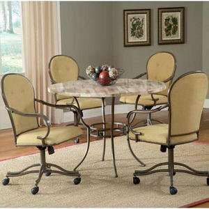 Hillsdale Hinsdale Round Stone Top Dining Table