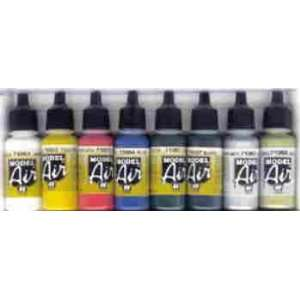 Vallejo Model Air Colors Paint Set Metallic Colors (8
