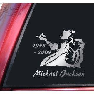 6 tall MICHAEL JACKSON SILHOUETTE   Vinyl Decal Sticker