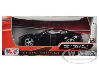 ASTON MARTIN VANTAGE V12 BLACK 1/24 DIECAST MODEL CAR BY MOTORMAX