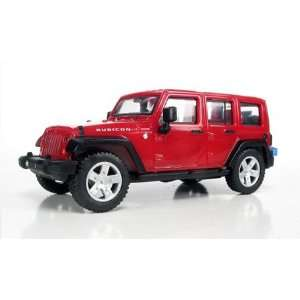 99087081 07 Jeep Wrangler Unlimited 4 Door Red HO Toys & Games