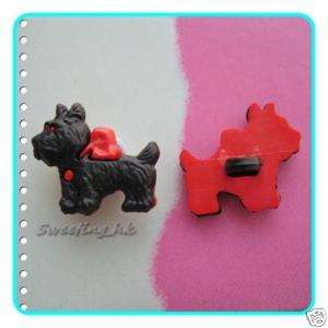 15 Scottie Scottish Terrier Dog Plastic Buttons K04