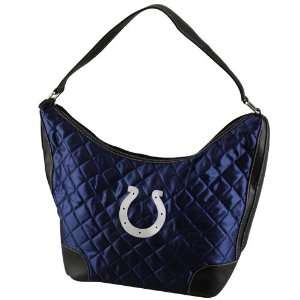 NFL Indianapolis Colts Ladies Navy Blue Quilted Hobo Purse