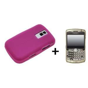 Hot Pink Silicone Soft Skin Case Cover for Blackberry Bold
