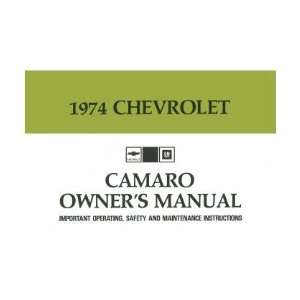 1974 CHEVROLET CAMARO Owners Manual User Guide