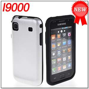 HARD ALUMINUM METAL SILICONE SIDE CASE COVER FOR SAMSUNG I9000 GALAXY