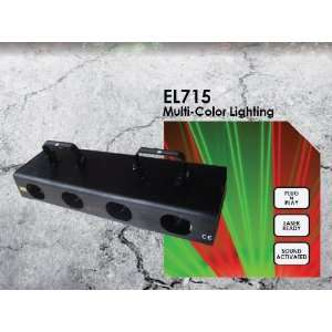 EL715 Sound Activated Multi colored Laser light Musical