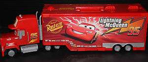 Disney Pixar Cars Mack Truck Semi Trailer Car Hauler Toy