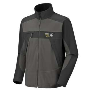 Mountain Hardwear Mens Windstopper TECH Fleece Jacket Grill/Black