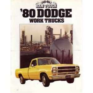 1980 DODGE WORK TRUCKS Sales Brochure Literature Book