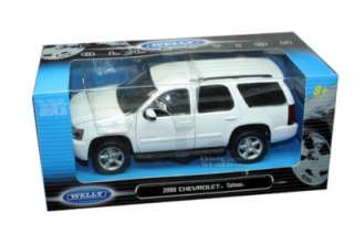 2008 CHEVY TAHOE SUV 1/24 DIE CAST MODEL WHITE NEW