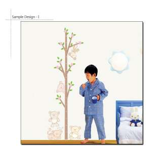ANIMAL KIDS GROWTH CHART   VINYL ART WALL STICKER PAPER