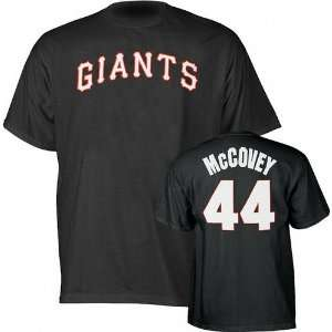 Willie McCovey San Francisco Giants Black Name and Number