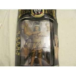 AUTO SIGNED WWE CLASSIC COLLECTOR SERIES JIMMY SNUKA ACTION FIGURE