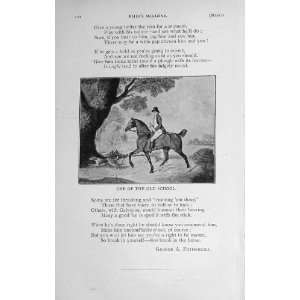 1914 Master Of The Horse Poem Man Country Scene Trees