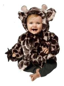 Bearington Bears Luxe Plush Baby Brown Giraffe Jungle Print Coat