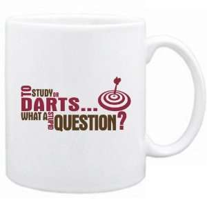 New  To Study Or Darts  What A Stupid Question ?  Mug