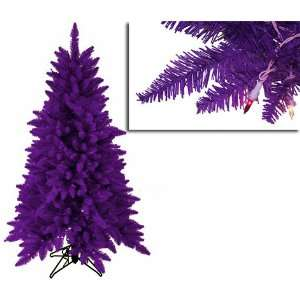 4.5 Pre Lit Slim Purple Ashley Spruce Christmas Tree