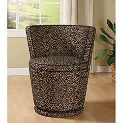 Carousel Leopard Print Swivel Chair
