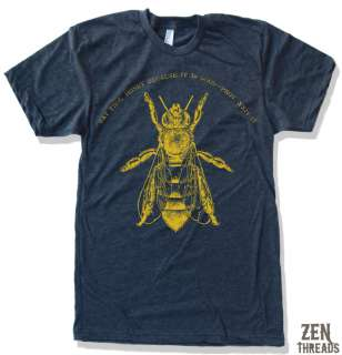 Mens HONEY BEE american apparel t shirt S M L XL 2X